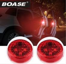 2 UNIDS Abrir La Puerta Del Coche Led Parpadeante Luces de Advertencia Strobe Light Red de Energía de La Batería Para El Coche Universal Volkswagen Ford Toyota