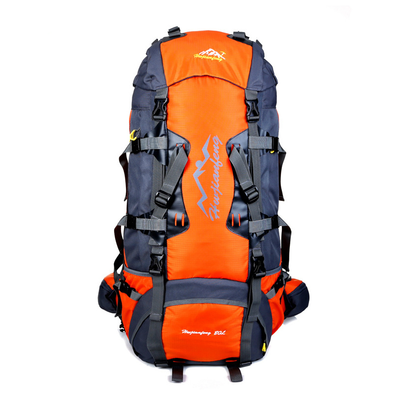 80L Large Outdoor backpack Camping Travel Bag Hiking Backpack Unisex Rucksacks Waterproof Sport Bags Climbing Package mountec large outdoor backpack travel multi purpose climbing backpacks hiking big capacity rucksacks sports bag 80l 36 20 80cm