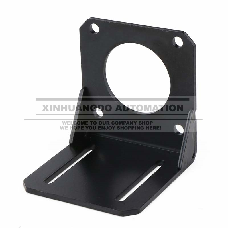 Steel Black <font><b>Nema</b></font> <font><b>23</b></font> Stepper Motor Mount <font><b>Bracket</b></font>, Strong 57 Stepper Motor Holder Fixed Seat image