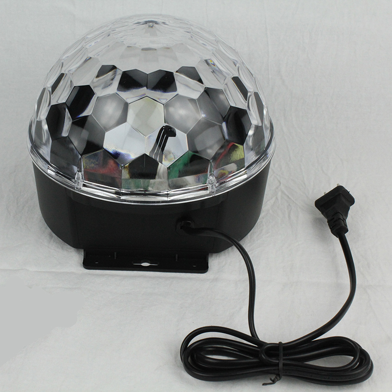 AC 90-230V 6W DJ Stage Lighting LED RGB Crystal Magic Ball Effect Light Sound Control LED Voice-activated Bar party Lights mini rgb led party disco club dj light crystal magic ball effect stage lighting