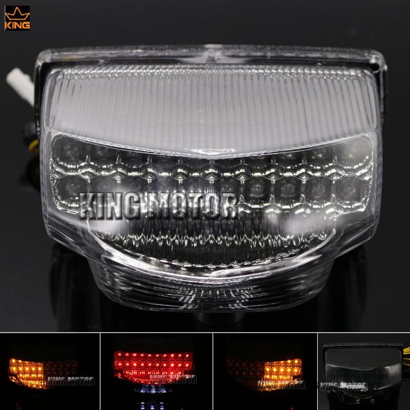 For HONDA CBR600RR CBR 600RR 2007-2012 Motorcycle Integrated LED Tail Light Turn signal Blinker Clear