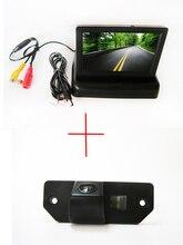 Цвет CCD вид сзади автомобиля Камера для Ford Focus седан (3 вагонов) Ford C-Max, с 4.3 дюймов складной ЖК-дисплей TFT Мониторы