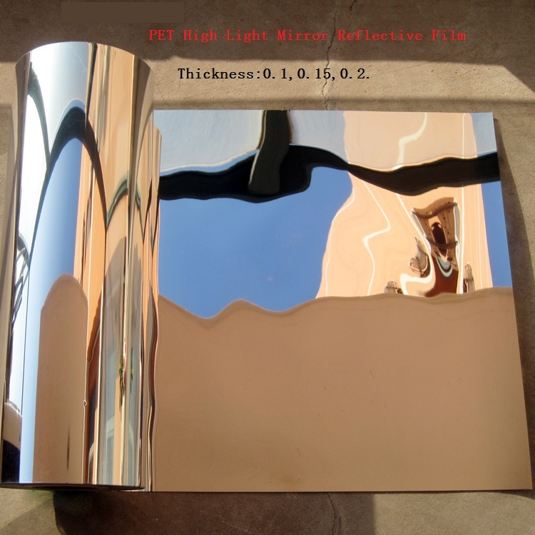 None-adhesive PET High Light Mirror Reflective Film Decoration Chimney Heat Insulation Material