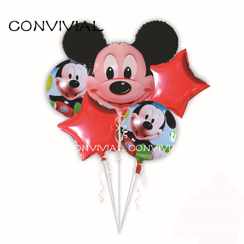 Mickey Minnie Mouse Foil Balloons set Birthday Party Decoration Kids Baby Shower Cartoon Globos Party Supplies CONVIVIAL PA64