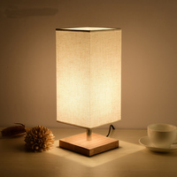 Modern minimalist wooden fabric table lamps for living room Led Bed lamp bedside light table light Tafellamp lamps bedroom