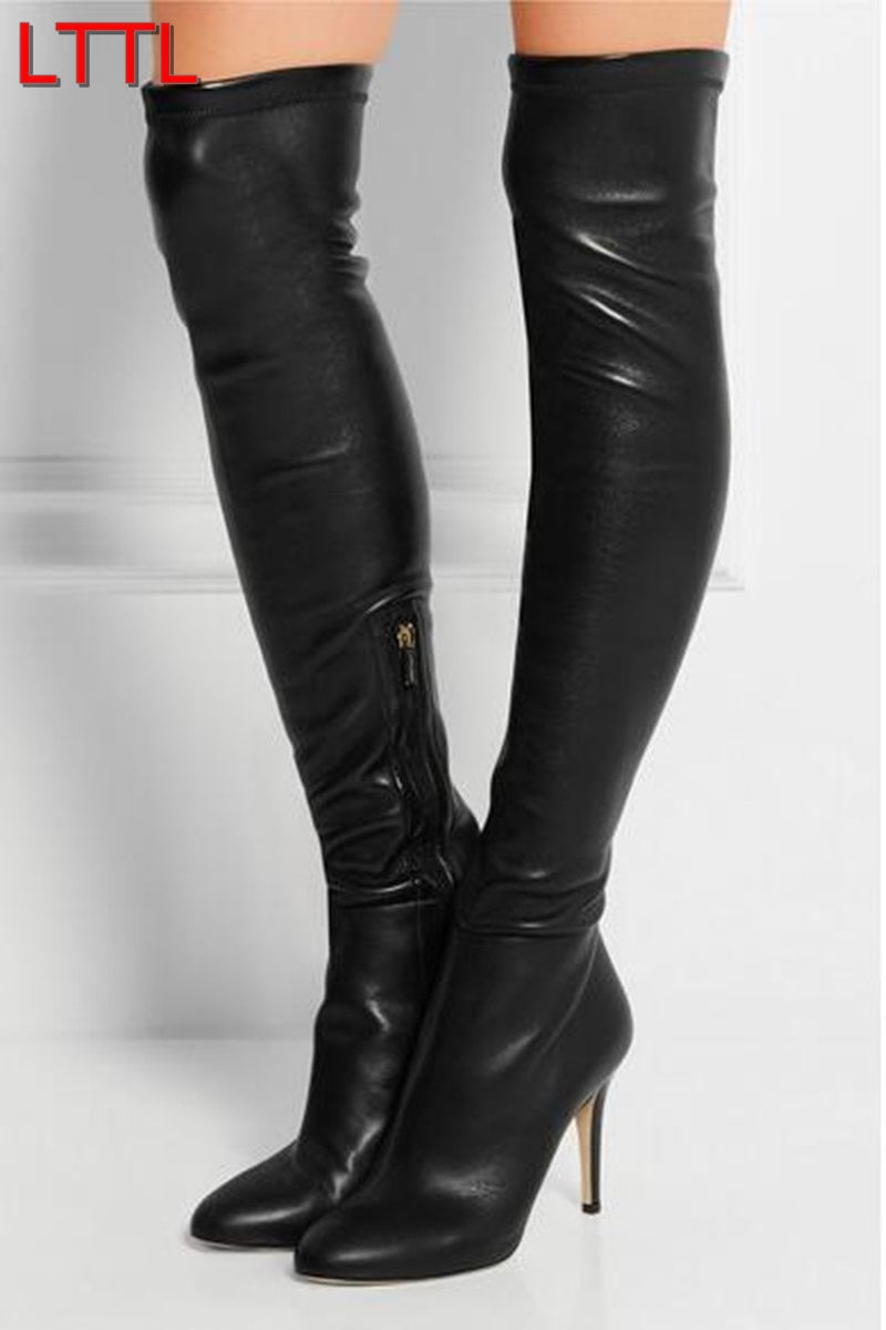 Compare Prices on Sexy Leather Thigh High Boots- Online Shopping ...