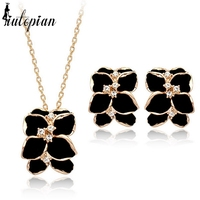 Italina Rigant Elegant Flower 18K Real Gold Plated Jewelry Set With Austrian Crystal Stellux Top Quality