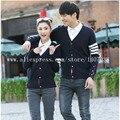 Весна осень любовник пара шерстяные свитера кардиган новые женщины мужчины вязаный кардиган с длинными рукавами свитер мода кашемировый свитер