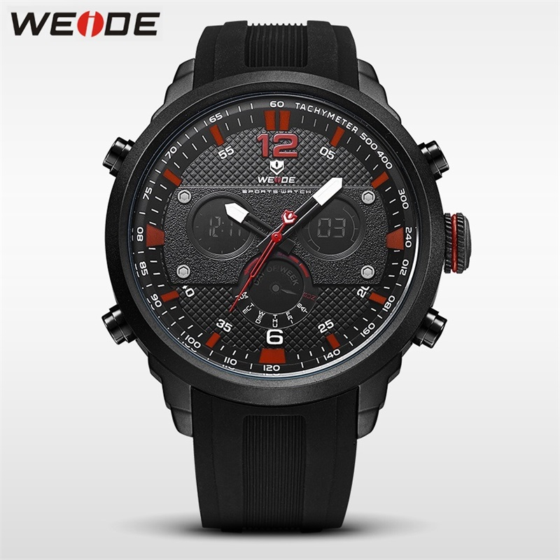 WEIDE Men Watch Sport LCD Digital Luxury Brand Quartz Watches Water Resistant Relojes Hombre 2018 Fashion Casual Alarm Clock Man weide high quality watch men luxury brand big dial 3atm water resistant stainless steel back lcd wristwatches with alarm items