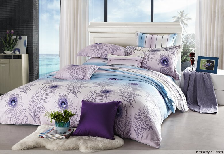 Light purple feather comforter bedding sets sets full queen size bed bed duvet covers for Full size bedroom sets for adults