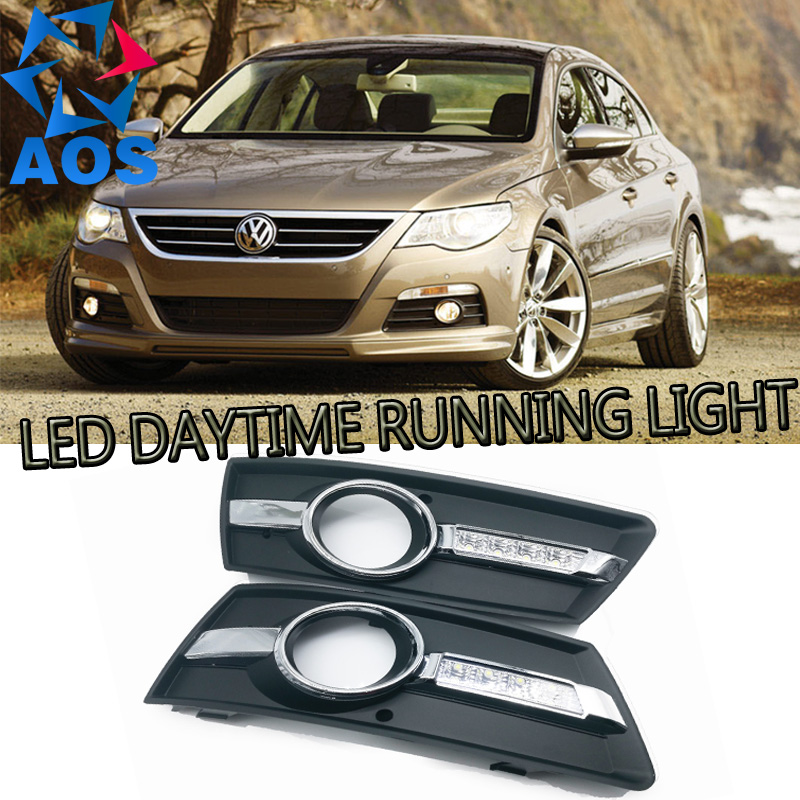 2PCs/set Car styling LED DRL Daylight Daytime Running light For Volkswagen CC 2009 2010 2011 2012 2013 free shipping