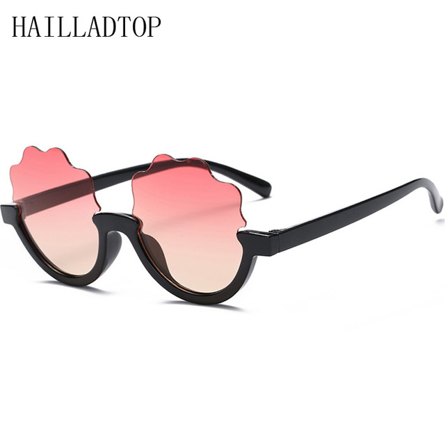 9829dab302 HAILLADTOP New Children Cartoon Semi-Rimless Sunglasses Kids Sun Glasses  Flowers Sunglasses for Girl Cloud Shape Lens Cartoon