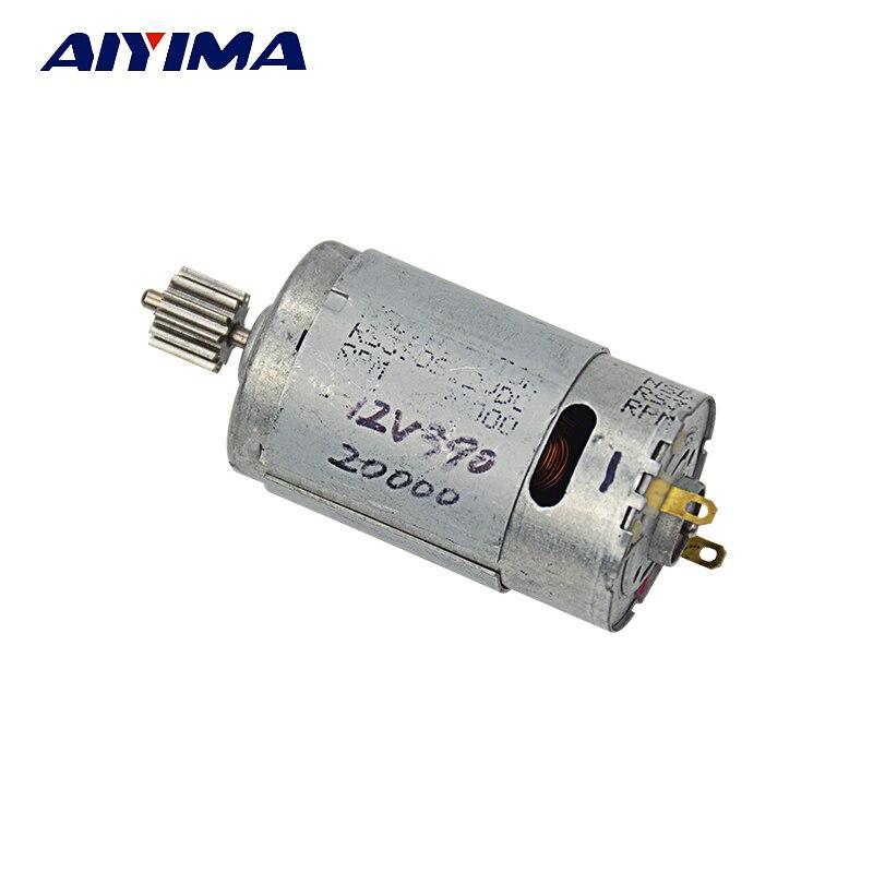 Aiyima1Pc DC Motor para vehículo eléctrico 12 V RS390 12 t 15-25 W 20000 rpm de Inear actuador sin escobillas motocicleta de alta potencia