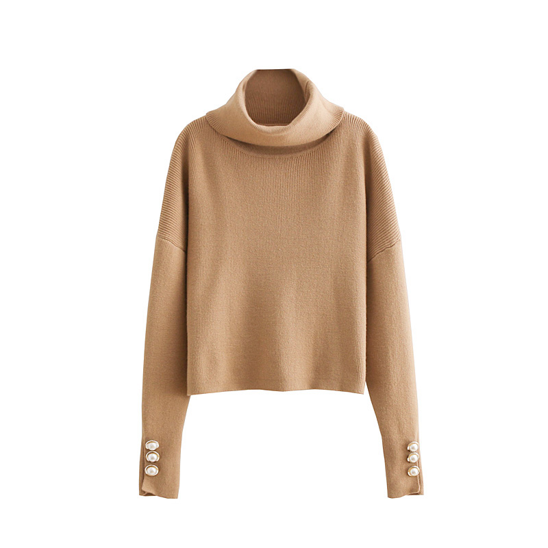 e8fc781a3 2018 New Autumn Fashion Women s Knitted Fabric Pullover Sweater ...