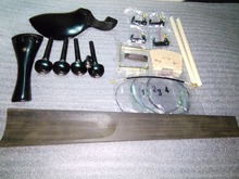 1 Set Quality Ebony Violin parts with tail piece+chin rest+pegs+end pin 4/4 &maple bridge& fine tuner etc all 4/4 SF02