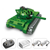RC Army Tank Building Blocks Bricks Fit Legoing Military Theme German Tank Model WW2 Soldier Weapon Vehicles Remote Control Toys