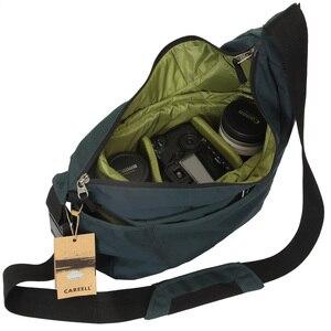 Image 1 - CAREELL C2028 고품질 배낭 트롤리 가방 한 어깨 배낭 카메라 비디오 사진 가방에 대 한 어깨를 가로 질러 기울여