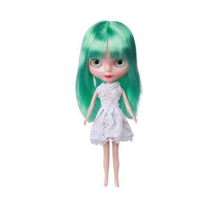 Image 5 - 30 cm Jointed BJD Poppen voor Meisje Mode Blyth Pop Kleur Haar DIY Make Naakt Pop Dress Up Speelgoed voor meisjes GIFT