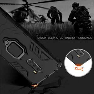Image 5 - Luxury Armor For Xiaomi Pocophone F1 Case Shockproof PC+TPU Protective Back Cover For Poco F1 Case Magnetic Holder Ring Bracket