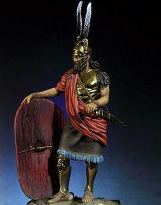 Image 2 - 1/18 90 MM עתיקות גבורה Tracian לוחם איש שרף איור דגם ערכות מיניאטורות gk Unassembly לא צבוע