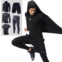 S 6XL Sport Suit Men Gym Training Fitness Sportswear Running Jogging Mens Sports Clothing Tracksuit Compression Men's SportSuits