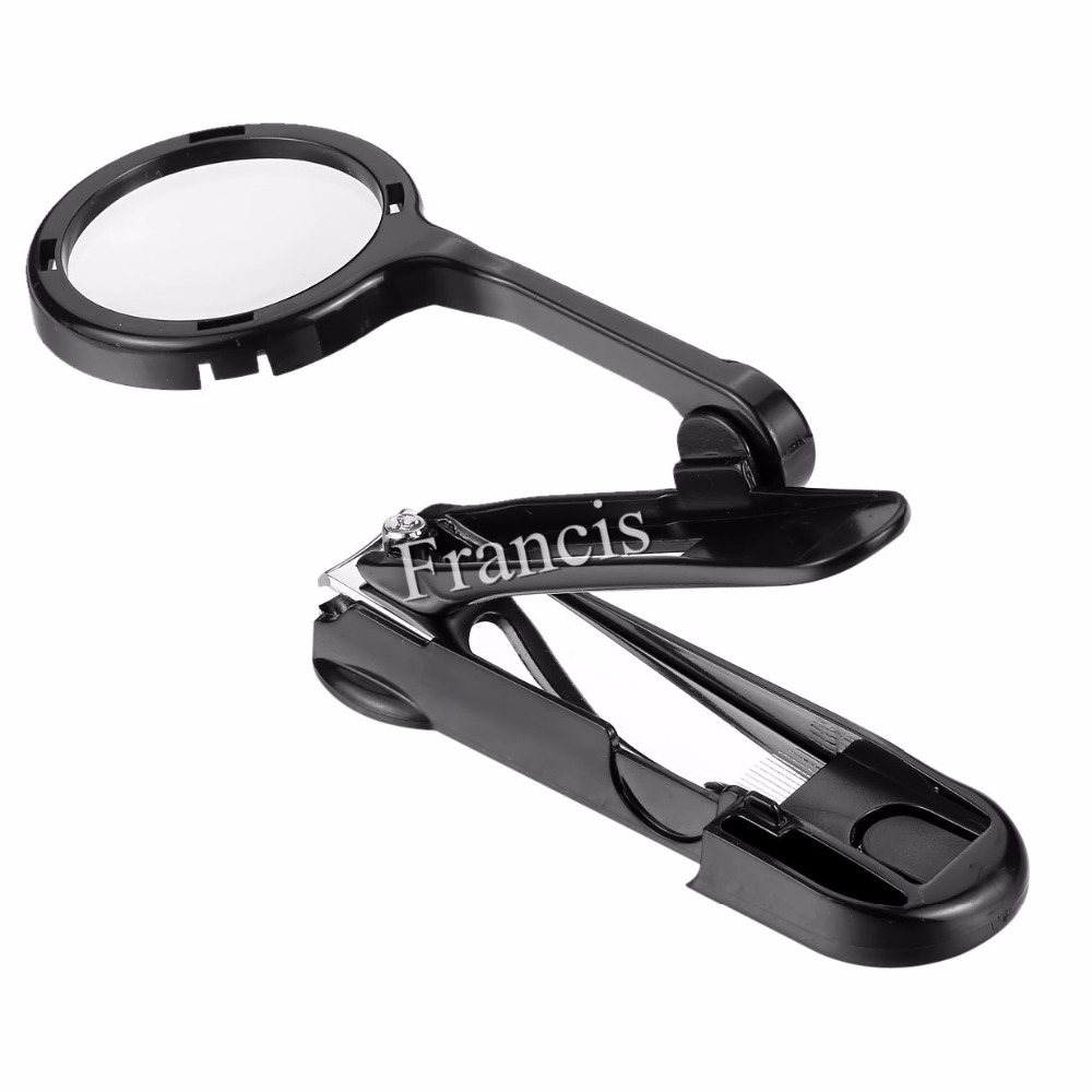1 PC Big Size Nail Clippers Stainless Steel Pedicure Nail Scissors With Magnifier Professional Manicure Nail Cutter in Clippers Trimmers from Beauty Health