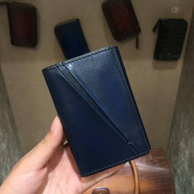 TERSE_Chinese manufacturer vintage card holder name card wallet 3 colors fashion card bag for business male best gift bespoke