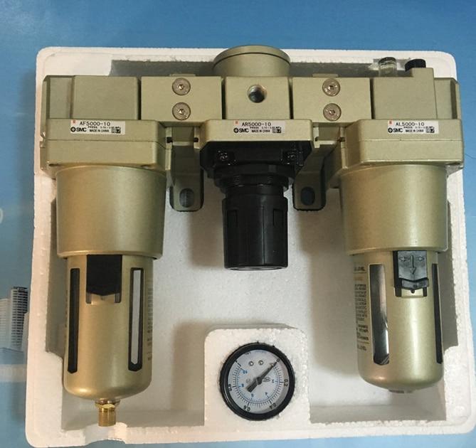 SMC AC5000-10 3/4 air pressure FRL air filter regulator combination AF5000 + AR5000 + AL5000 airsource treatment unit AC series smc ac3000 03 3 8 air pressure frl air filter regulator combination af3000 ar3000 al3000 source treatment unit ac series
