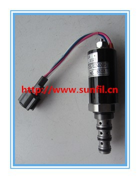 SK200-2 Excavator spare parts, solenoid YN35V00005F1,2PCS/LOT,Free shipping wholesale pump solenoid valve sk200 6 5pcs lot free shipping