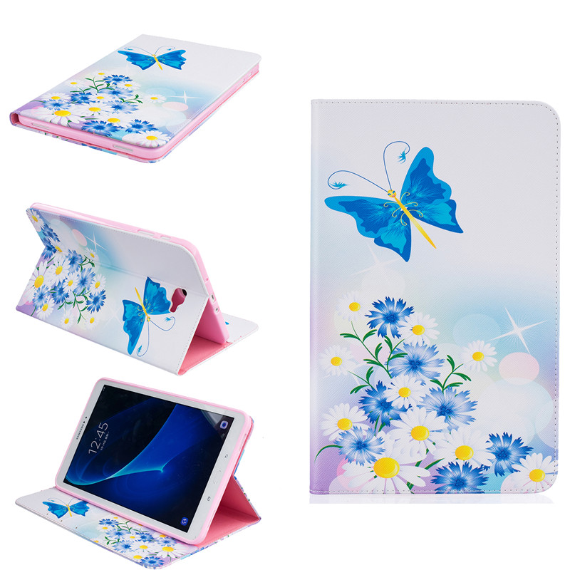 New Design Flip Leather Case Cover for Samsung Galaxy Tab A 10.1 Tablet SM- T580 SM - T585 Coque Carcasa TPU Back Shell flip cover pu leather for samsung galaxy tab a6 10 1 2016 t585 t580 sm t585 t580n tablet case cover soft tpu back cover