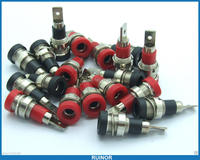 50 PCS Copper 4mm banana Socket Terminals for Binding Post Multimeter pen Probes
