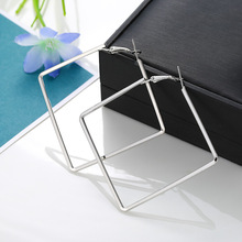 Personality Simple Metal Square Geometric Earrings Fashion Hoop For Women Accessories Trendy Jewelry boucle doreille