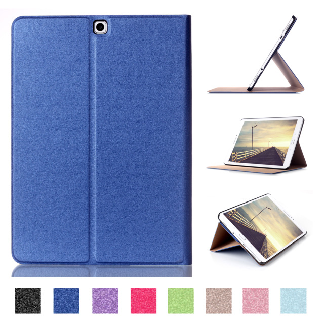 For Samsung Galaxy Tab S2 9.7 SM-T815 T810 Case Book Flip Folio PU Leather Stand Cover with Sleep Wake Up Function бейдж durable 8216 19 click fold