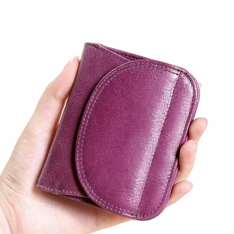 High quality 100% Genuine leather Women Wallet Ladies Short Wallets Leather Small Wallet Coin Purse Girl Card Holder Clutch Bag