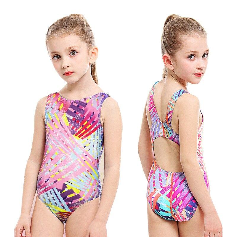 New Kids Swimwear Girl Swimsuit One Piece Swimwear Professional Swimming Suits Bathing Suit Girls Swimwear Child