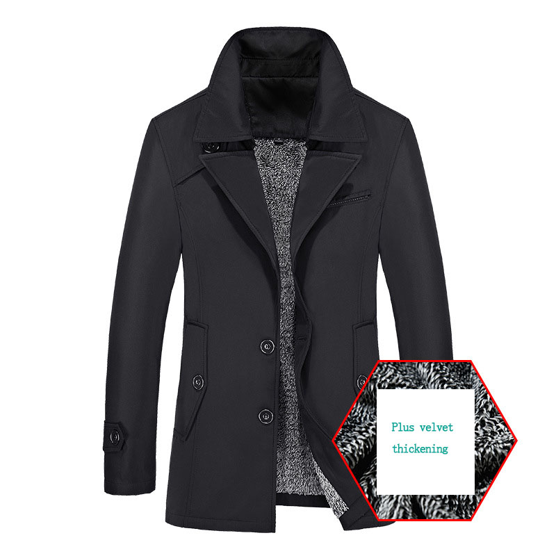 Drop Shipping Winter Jacket Men's Thick 8XL Windbreaker coats 2019 New Clothing casual solid single breasted turn down collar
