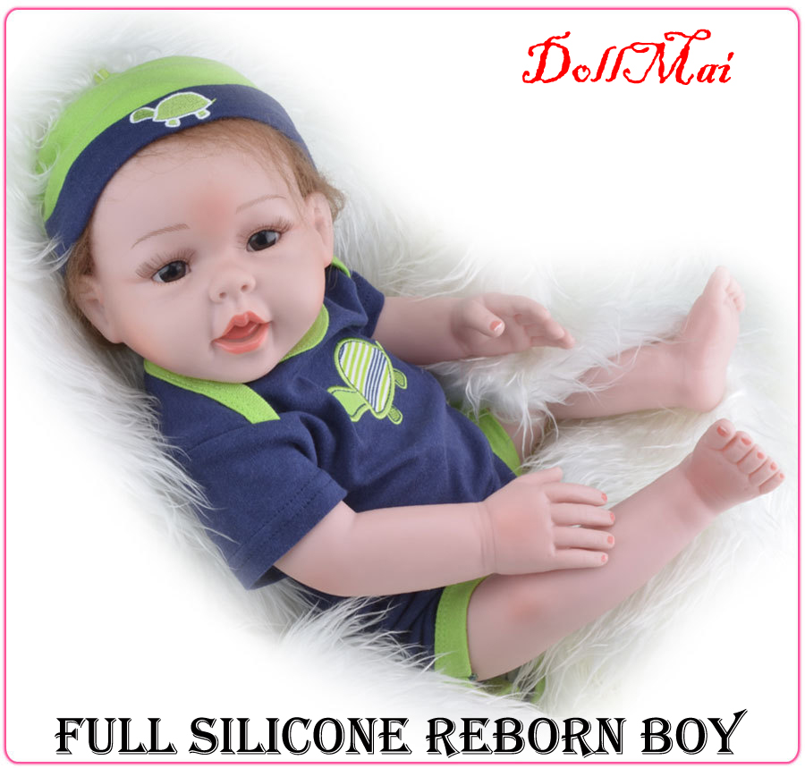 Full silicone vinyl reborn dolls 20 50cm bebe real reborn brinquedos boy dolls children gift dolls boy dolls can enter water