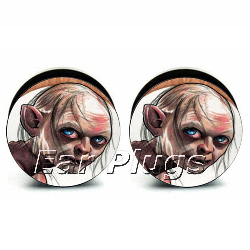 Wholesale 60pcs Gollum plug acrylic screw fit ear plug flesh tunnel ear gauges mix sizes 6mm-25mm A0212