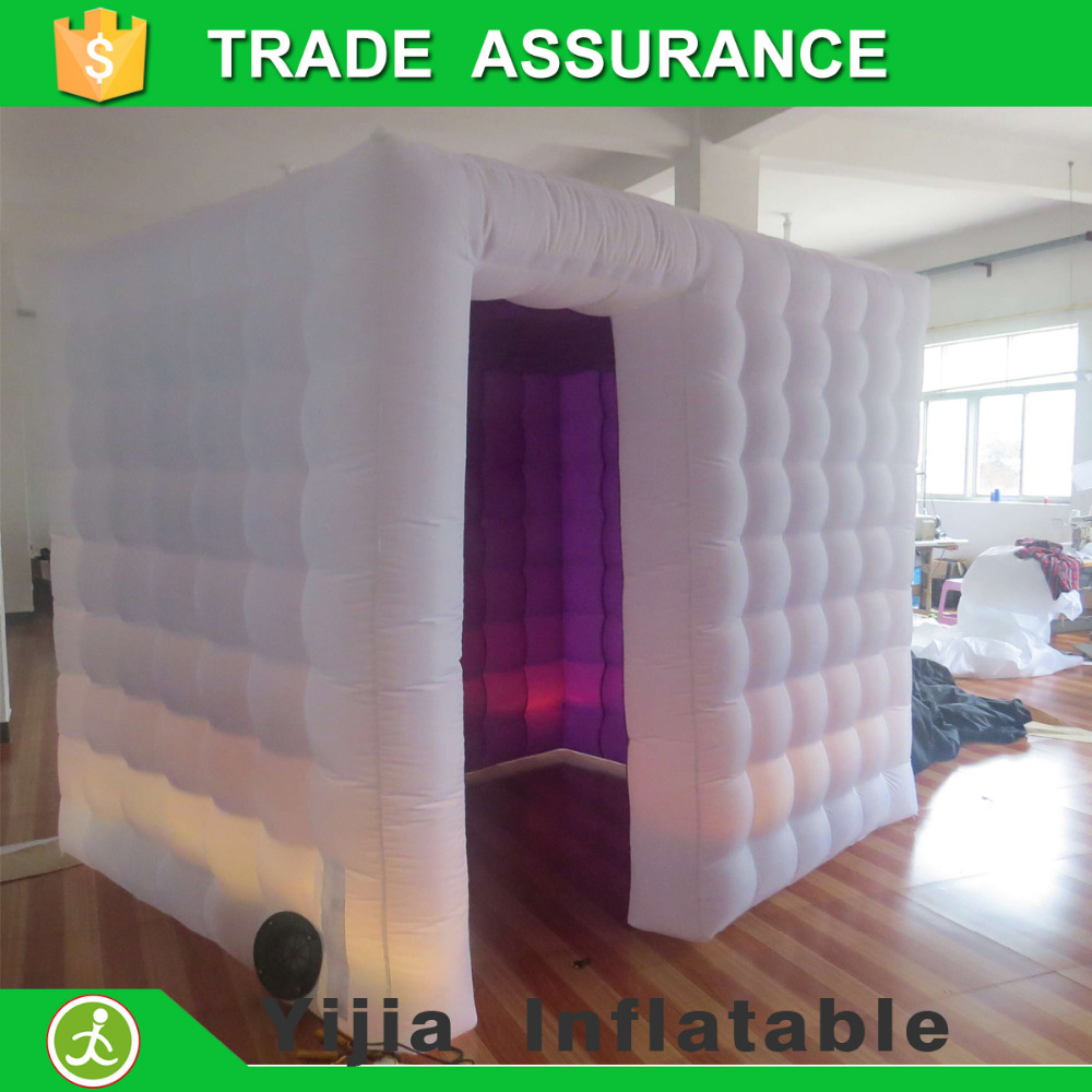 free shipping small szie led light white outside purple inside wedding party photo booth