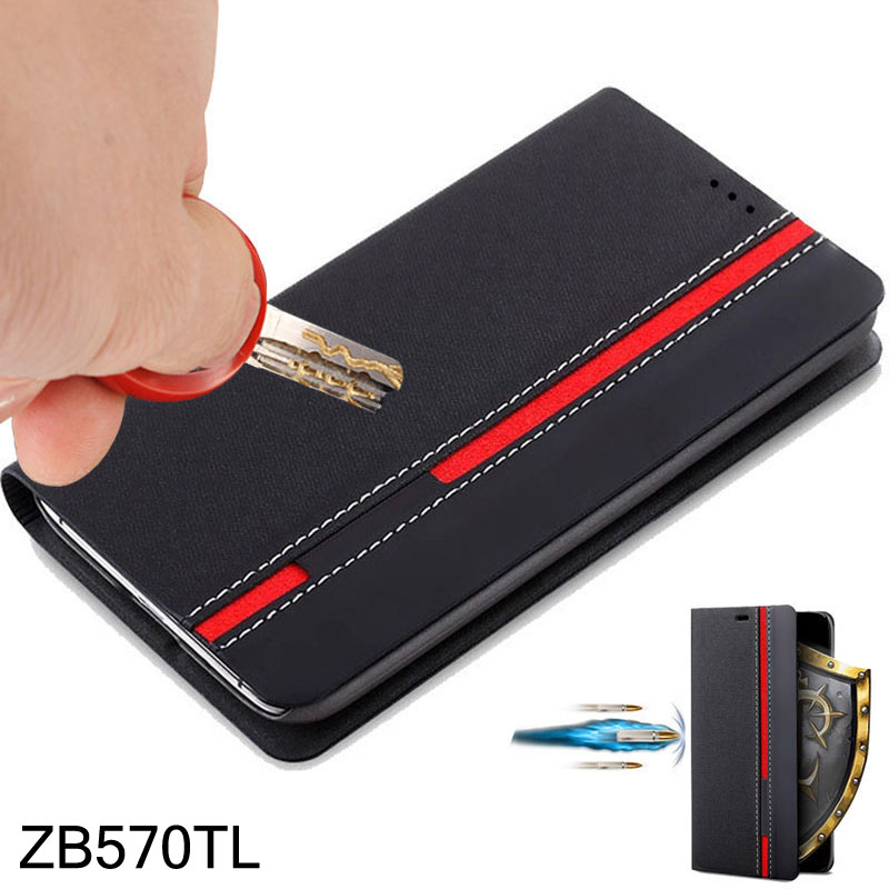 for Asus Zenfone MAX PLUS M1 ZB570TL Case Leather flip cover case for Asus Zenfone ZB570TL back cases Wallet Style Stand