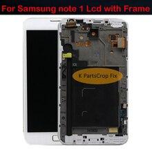 100% getest goede kwaliteit super amoled lcd scherm met frame voor samsung note 1 I9220 N7000 vervangende onderdelen gratis verzending