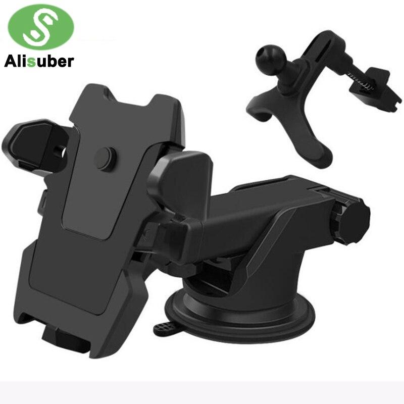 Alisuber Transformatoren Langen Arm Autotelefonhalter Einstellbar Silikon Sucker Cup & Outlet Haltewinkel-stand Support Für 3-6,5 zoll
