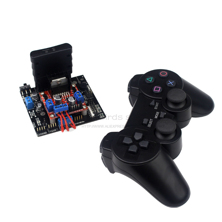 LB smart car robot / Tank robot control system control board + Motor drive module + PS2 controller + Bluetooth 4.0+ Android APP 6ch servo control board with l298n motor driver module ps2 wireless control handle for rc smart tracked robot car diy platform