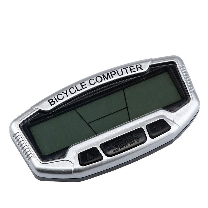 цена Wired Bicycle Cycle Computer Bike Speedo Speedometer Bisiklet Large display Bicycle Accessories Stopwatch #2A25#F в интернет-магазинах