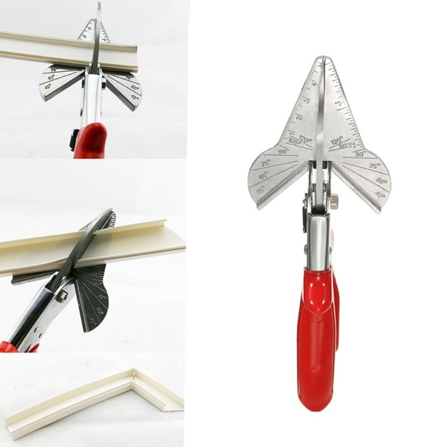 PVC Trunking Chamfer Cutter Multi Angle Steel Trim Siding Mitre Fillet Shear Snips Trimming Cutting Tools 45 To 120 Degree