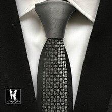 Последняя мода тонкий галстук мужской роскошный тканый галстук Сплошной Серебряный Узел с узором в горошек