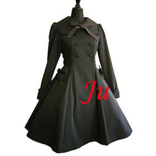 Free Shipping Gothic Lolita Punk Fashion Coat Jacket Dress Outfit Cosplay Costume Tailor-made