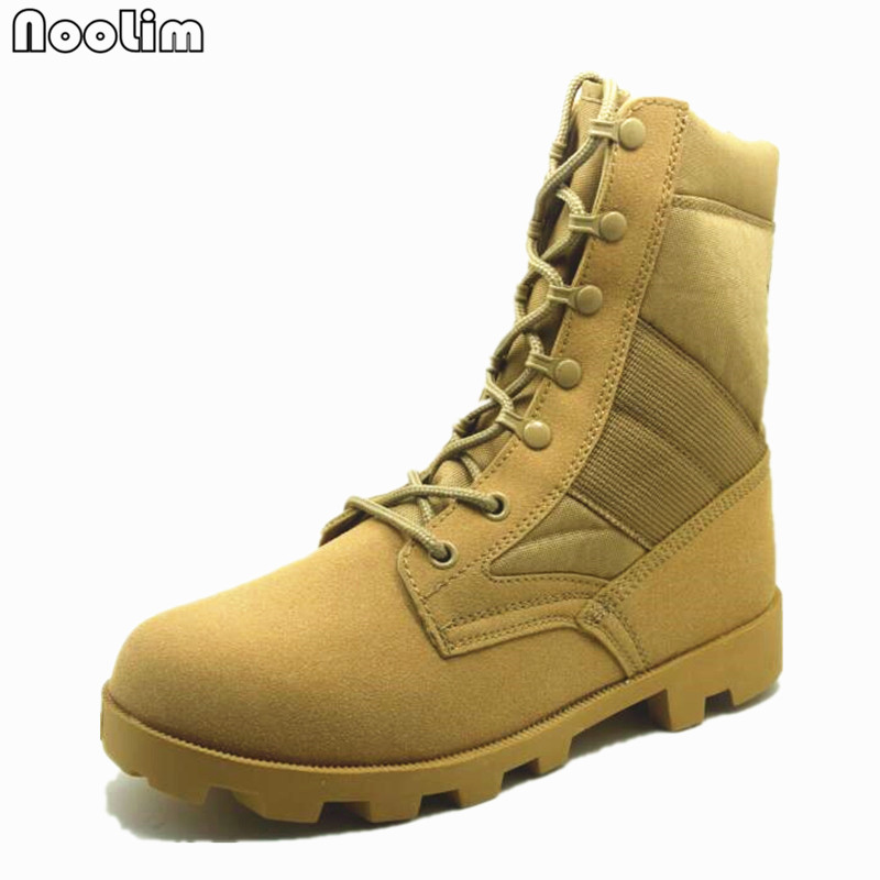 2017 Outdoor Men's Military Desert Tactical Army Boots Autumn Breathable Army Shoes Combat Mid-Calf Boots Botas Tacticos Zapatos