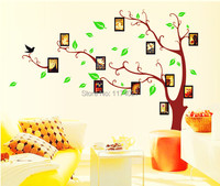 Free Shipping Black Family Photo Frame Record Forever Memory Original PVC Creative Wall Decals Hot Selling