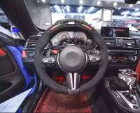 Accessories Carbon Fiber Steering Wheel Trim Cover For BMW 1 3 4 X3 X5 F20 F30 F32 F10 F12 F25 F26 F15 F16 M SPORT Car styling
